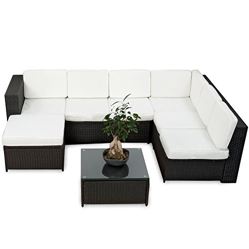 20tlg deluxe lounge garnitur set gruppe polyrattan. Black Bedroom Furniture Sets. Home Design Ideas