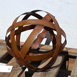 Deko kugel spira metall edelrost 28 cm dm11226 for Rost deko kugel