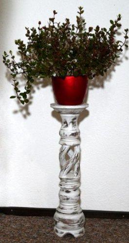 blumens ule holz blumenst nder mediterraner stil blumentisch blst02 floristikvergleich. Black Bedroom Furniture Sets. Home Design Ideas